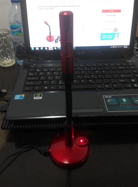 Mic Usb Untuk Laptop jual usb mic mikrofon fleksibel dudukan dekstop pc