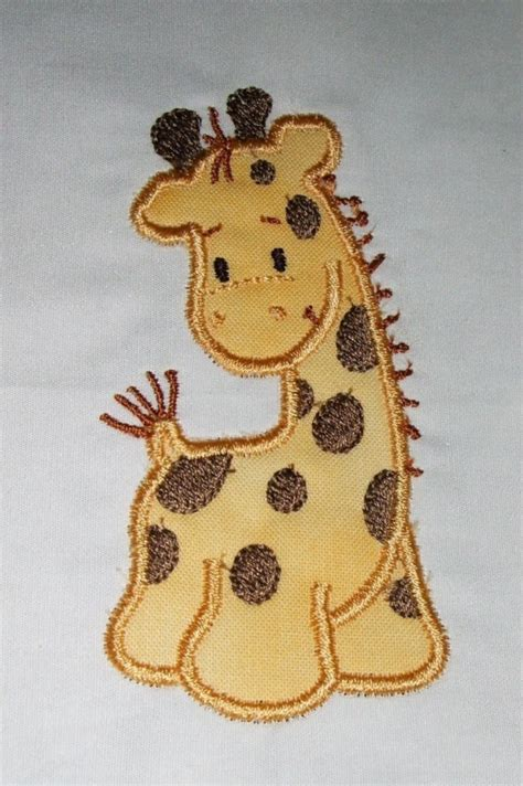 giraffe applique machine embroidery giraffe applique designs and filled