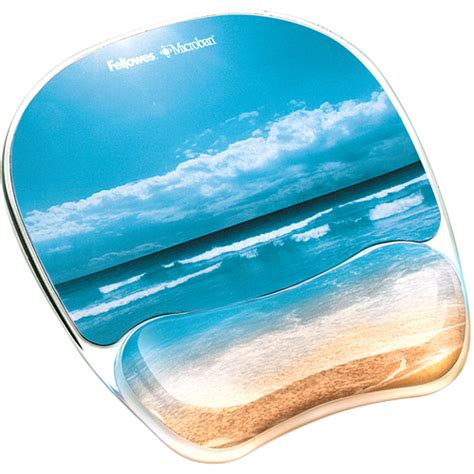 fellowes 174 photo gel mouse pad wrist rest with microban 174