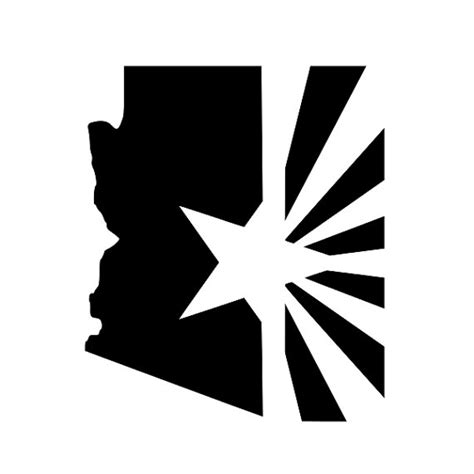 arizona flag tattoo medium arizona state with flag vinyl decal 4in by 5in