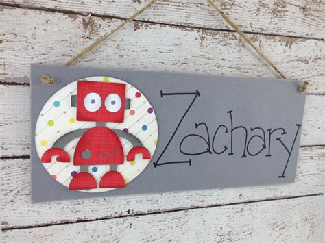 Bedroom Door Sign Maker Personalized Bedroom Door Sign Robot On Luulla