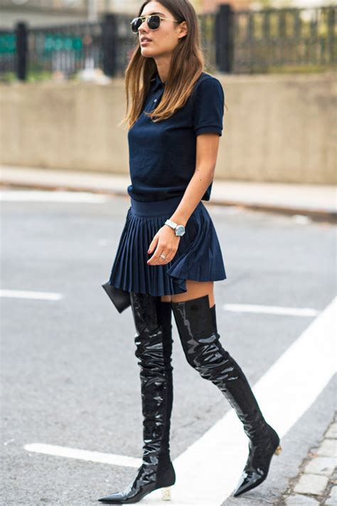 9 tips how to wear thigh high boots with dresses or