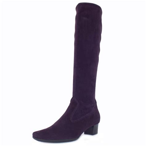 kaiser uk aila grape purple suede pull on boots