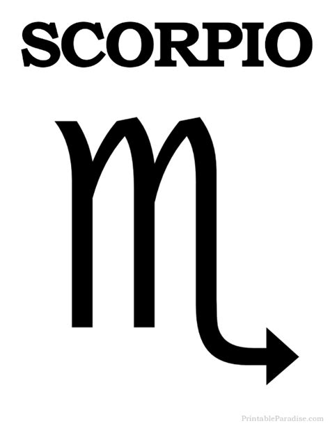 printable zodiac signs printable scorpio zodiac sign print scorpio symbol