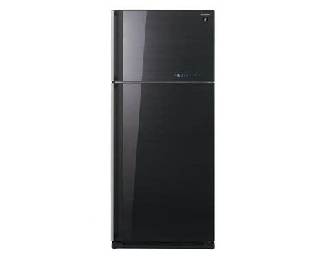 sharp refrigerator 2 door black 627l sj gc75v bk elaraby