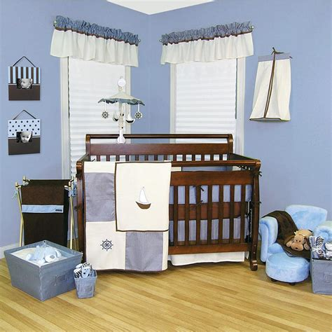 Blue And Brown Nursery Decorating Ideas by Baby Nursery Nautical Baby Room Ideas Sailboat Nursery
