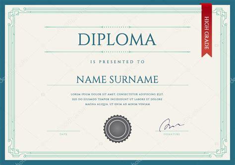 Diseo De Letras De Diploma | diploma o certificado premium dise 241 o plantilla vector de
