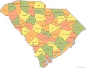south carolina cities map