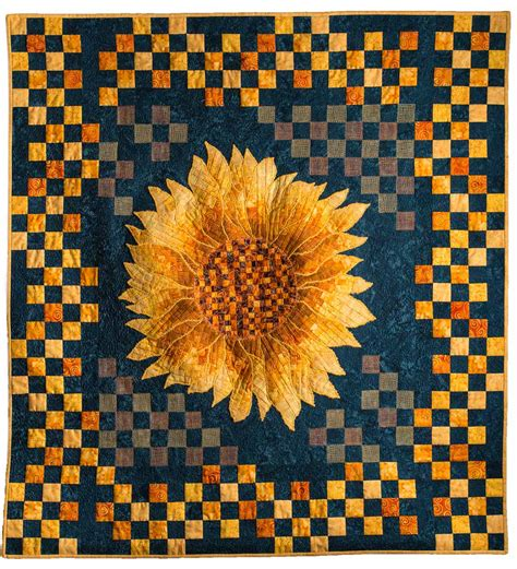 Sunflower Quilt Block Pattern by Sunflower Bargello Applique Quilt Quilts By Jen