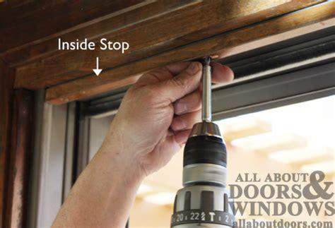 sliding screen door stop how to replace the rollers in an andersen gliding door