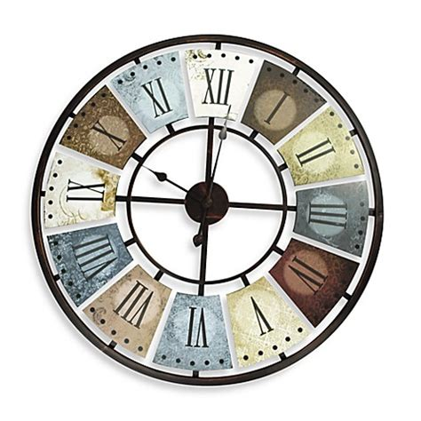 bed bath and beyond clocks buy metal multicolor wall clock from bed bath beyond