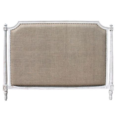 Country Headboard by Ivanna Country White Wash Burlap Headboard Kathy Kuo Home
