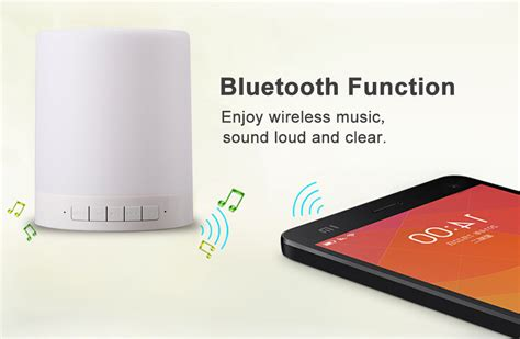 Smart Touch Portable L With Bluetooth Speaker Whit Limited smart touch portable l with bluetooth speaker white
