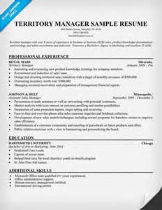 Territory Sales Manager Resume Sample Territory Manager Resume Example Job Hunting Pinterest