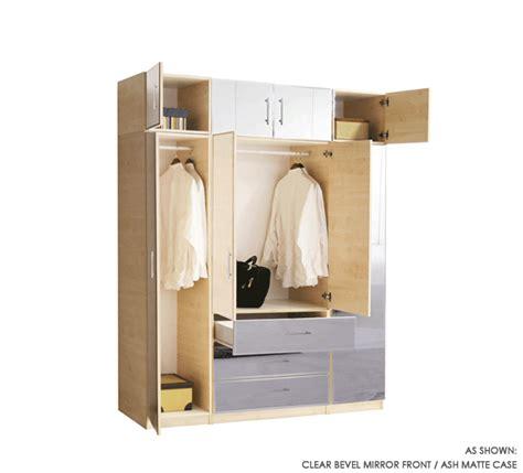 Hanging Mirror On Closet Door by 8 Door Set Of Hanging And Exterior Drawer Wardrobe Closets