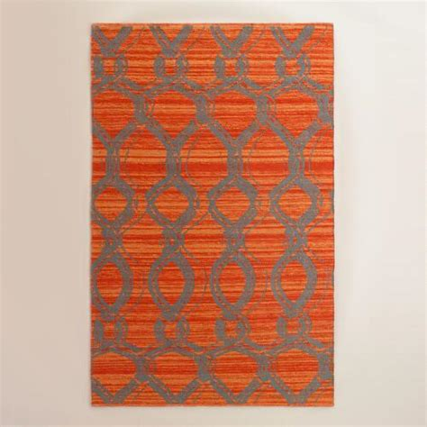 Orange Outdoor Rugs by Orange And Gray Ventura Reversible Indoor Outdoor Rug