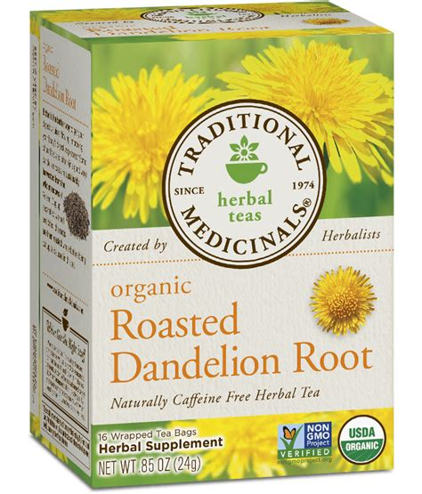 Dandelion Root Tea Detox Recipe by Roasted Dandelion Root Traditional Medicinals