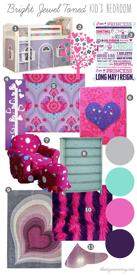 mood board bright jewel toned kid s bedroom our diy