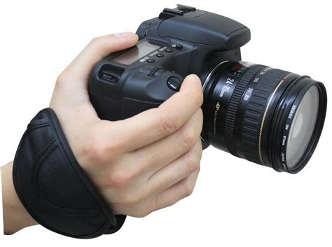 camera black hand grip wrist padded strap  eos nikon