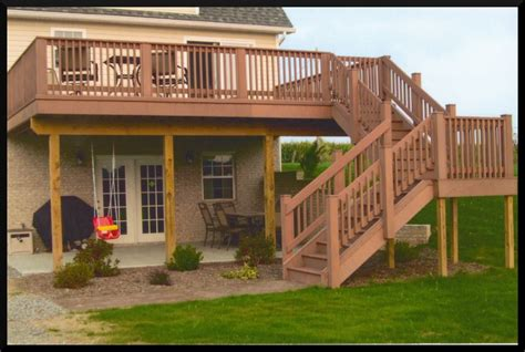 wrap around deck designs 2 story wrap around porch house mark pflug general contracting decks