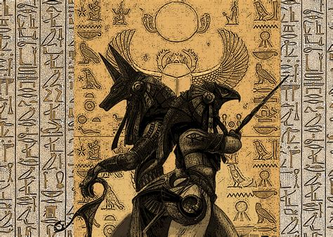 dark wallpaper egypt anubis and osiris by dandelum deviantart com on