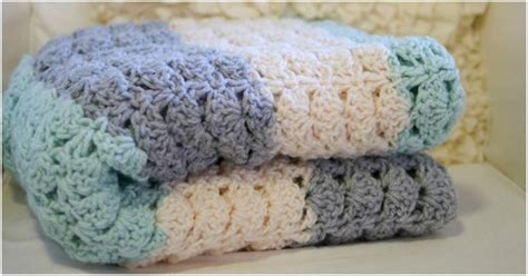 easy crochet shell stitch blanket stylesidea