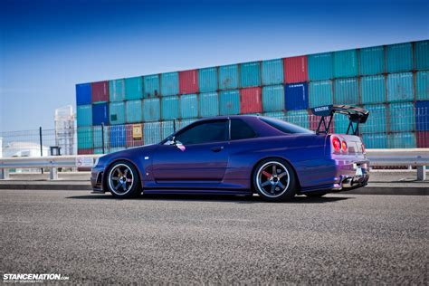 stancenation skyline barely david s nissan skyline r34 gtr