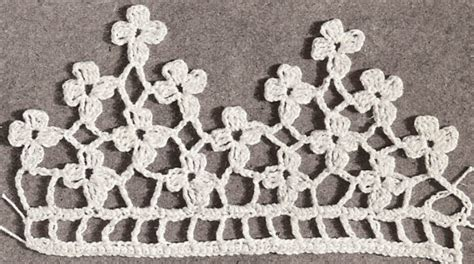 flower pattern edge vintage crochet pattern to make antique violet flower