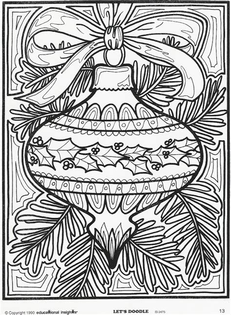 christmas printable coloring page ornament for christmas