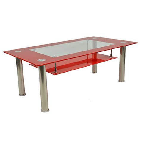 toughened glass angular coffee table with chrome legs