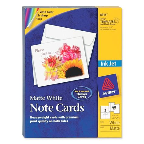 avery 8315 template inkjet matte coated note card avery 8315 avery paper