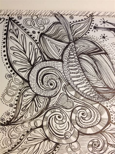 Zen Doodle Flora Zen Doodles Zen Doodle