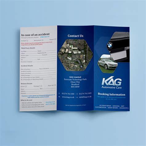 leaflet design bradford kag autocare folding leaflet design kiseki studio