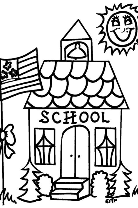 school house coloring page az coloring pages