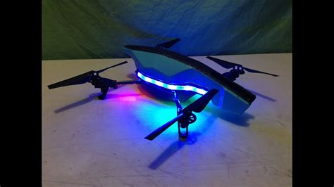 drone with and lights led light install on parrot ar drone 2 0