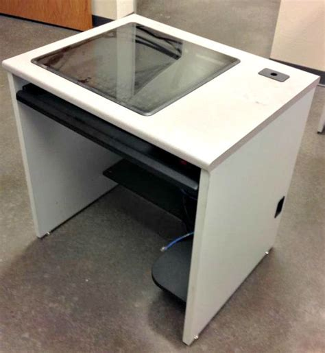 Computer Desk Recessed Monitor Training Workstations On Recessed Monitor Computer Desk