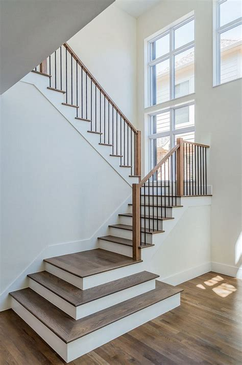 stairway banister ideas 25 best ideas about hardwood stairs on pinterest