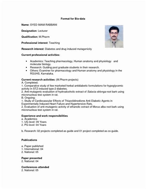 marriage resume format for boy resume ideas