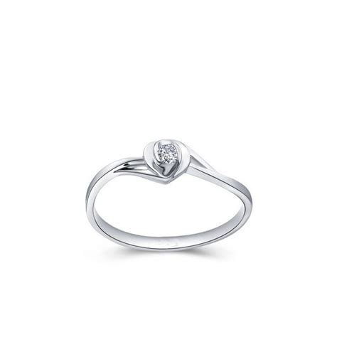 affordable promise solitaire ring on 10k white