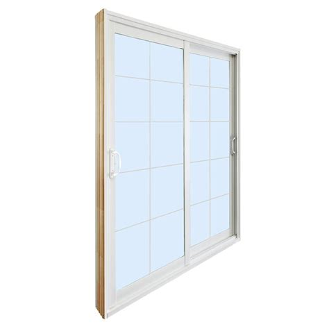 60 Patio Door Stanley Doors 60 In X 80 In Sliding Patio Door With 10 Lite White Flat Grill