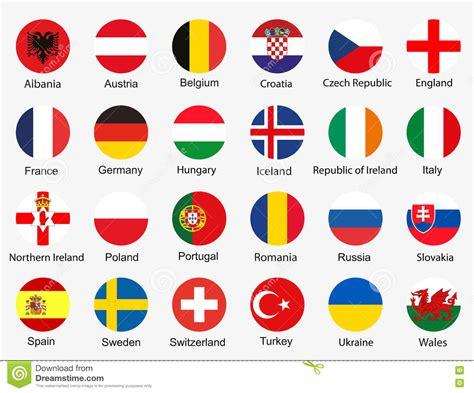 reajustedaspensoes da rffsa em 2016 drapeaux de l euro 2016 illustration stock image du