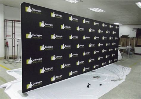 Wedding Backdrop Logo by Step And Repeat Backdrop Logo Walls For Carpet Events