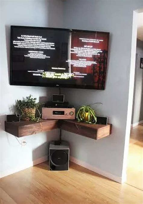 corner tv wall mount 50 creative diy tv stand ideas for your room interior diy design decor