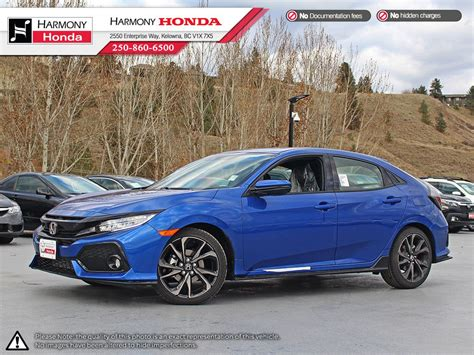 2019 Honda Sports Car by New 2019 Honda Civic Hatchback Sport Touring 4 Door Car In