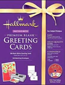 hallmark blank greeting cards half fold matte premium 20 count hallmark paper