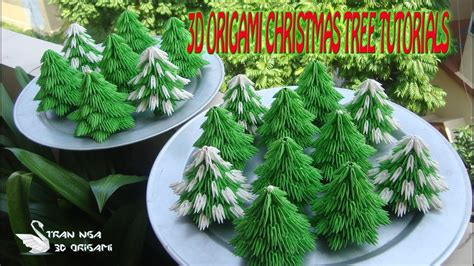 origami 3d tutorial christmas tree how to make 3d origami christmas tree paper christmas