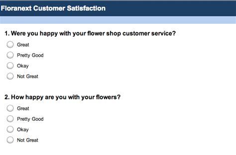 survey questionnaire template word flower shop surveys with surveymonkey floranext