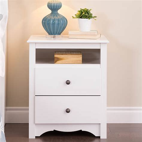 2 drawer nightstand with open shelf tall 2 drawer nightstand with open shelf stoneberry