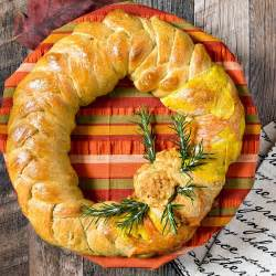 bread for thanksgiving thanksgiving wreath braided bread centerpiece breadbakers