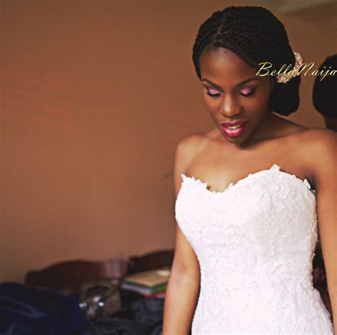 Wearing A Gown With African Braid Without Makeup   bn bridal beauty natural hair nigerian brides